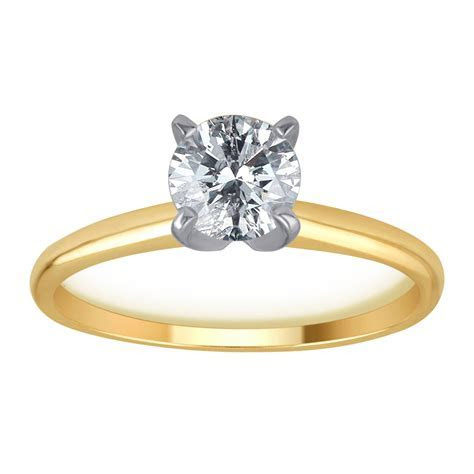 1/2 Carat T.W. Diamond 14kt Yellow Gold Solitaire Ring