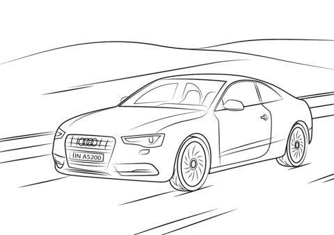 Kolorowanka Audi A5 Kolorowanki Dla Dzieci Do Druku