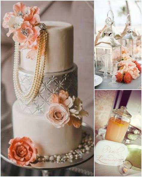 Peach and Silver Wedding Color Combination 2013 Trend