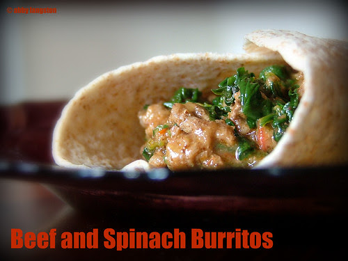 Beef and Spinach Burritos