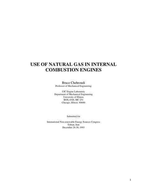 (PDF) USE OF NATURAL GAS IN INTERNAL COMBUSTION ENGINES
