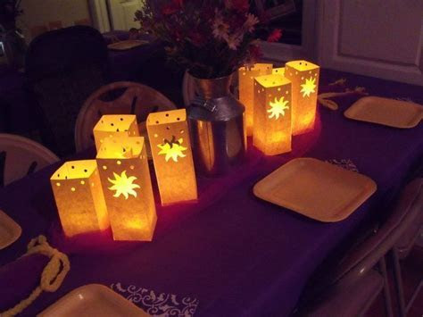 Tangled centerpieces   Tangled theme party in 2019