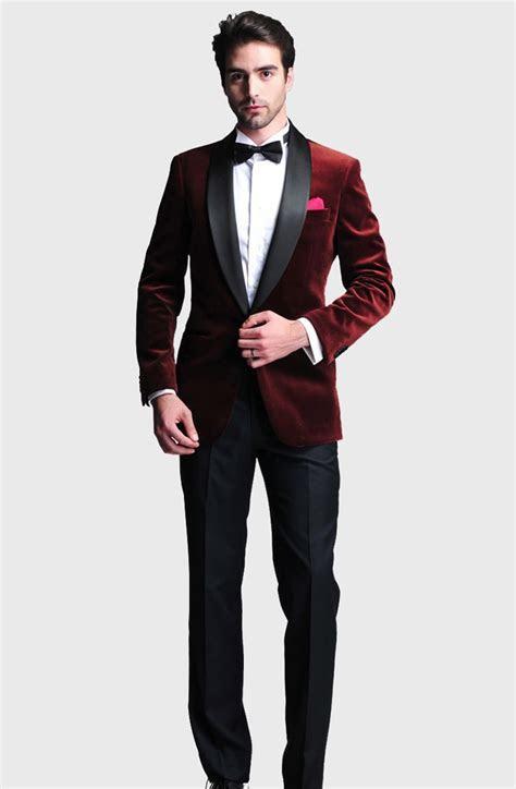 Burgundy Slim Fit 2015 Groom Tuxedos Wedding Suits Custom