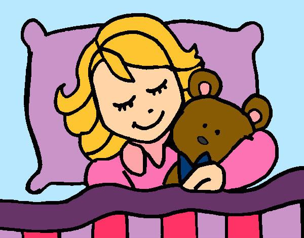 Dibujo De Nina Durmiendo Pintado Por Beatriz900 En Dibujos Net El