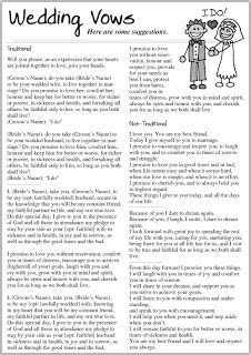 Traditional Wedding Vows   Traditional Vows: Traditional