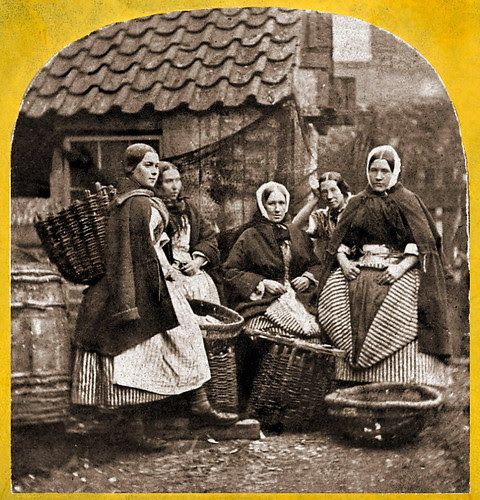 1860s Stereoview - fisherwomen