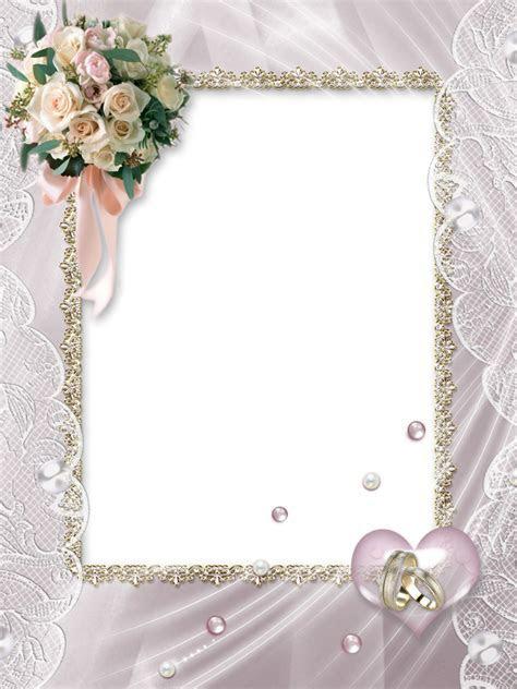 Beautiful Soft Transparent Wedding Photo Frame   Scrapbook