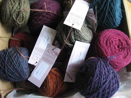 Box of yarn, ready to go