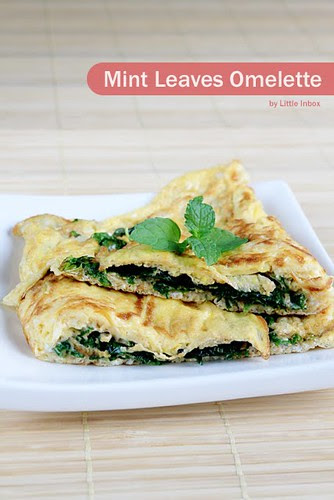 Little Inbox - mint-leaves-omelette-1