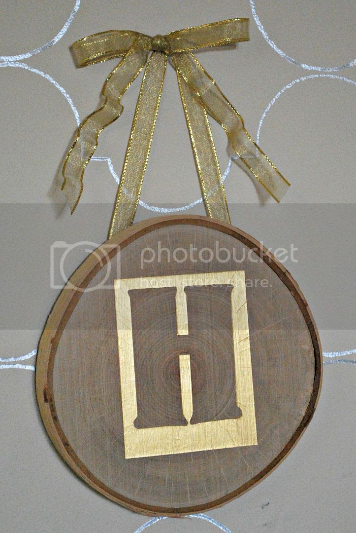 Shabby Nest hanging metallic monogram on birch photo hanginghmonogram.jpg