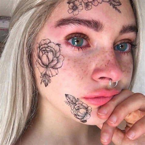 face tattoo design ideas men women