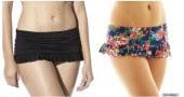 SE HAI LE COSCE PIENE - Scegli un bikini a gonnellino: coprirà di più (ed è prezioso quando proprio non hai fatto in tempo a fare un salto dall'estetista)
