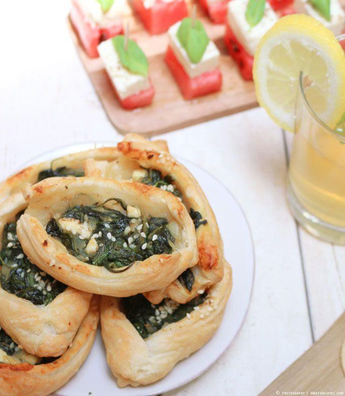 Feta-Spinat-Schiffchen
