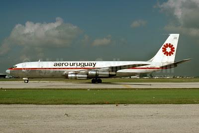 Aero Uruguay Boeing 707-331C CX-BJV (msn 19212) MIA (Bruce Drum). Image: 103387.
