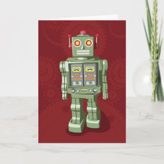 Toy Robot Holiday Card card