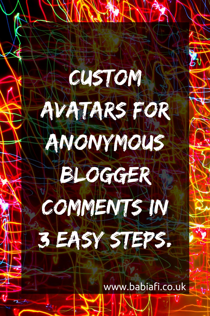 Custom Avatars for Anonymous Blogger Comments in 3 Easy Steps
