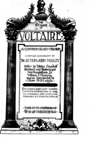 The Works Of Voltaire Vol Iii Philosophical Dictionary