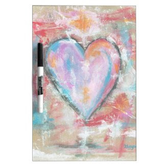 Abstract Art Reckless Heart Original Painting Dry-Erase Whiteboard