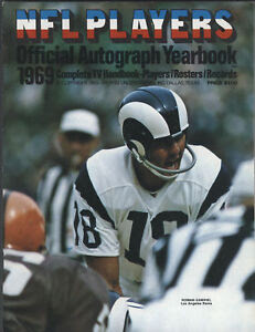 1969 NFL PLAYERS Official Autograph Yearbook eBay