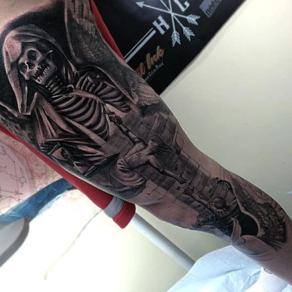 Skeleton Tattoos Sleeves For Men