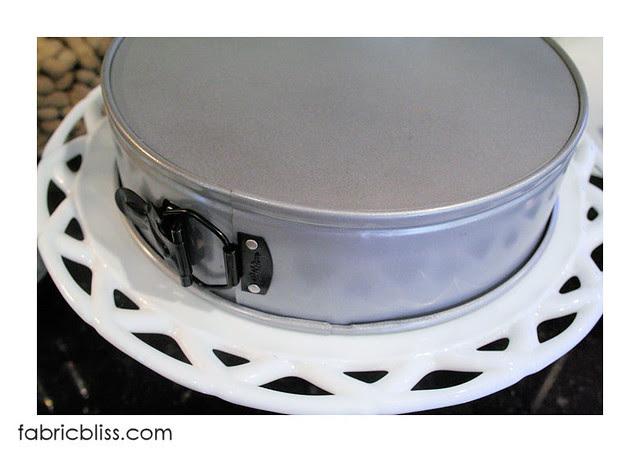 flourless chocolate cake - invert the pan