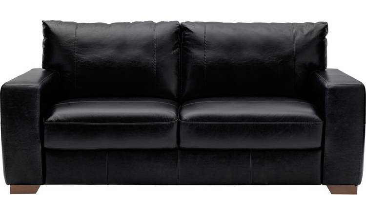 Black Leather 3 Seater Sofa Argos