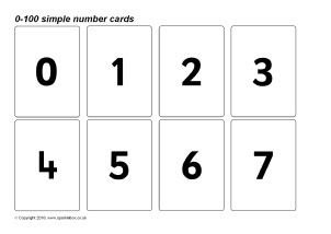 Number Flash Cards Primary Teaching Resources & Printables ...