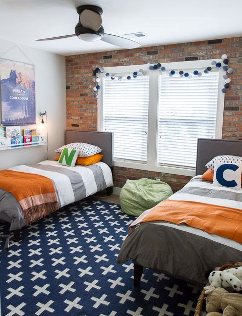 32 Edgy Brick Walls Ideas For Kids' Rooms - DigsDigs