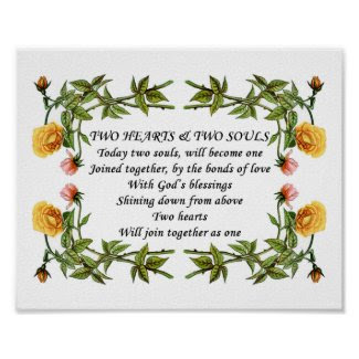 TwoHeartsSouls Love Poem_Wedding Invitation Verses zazzle_print