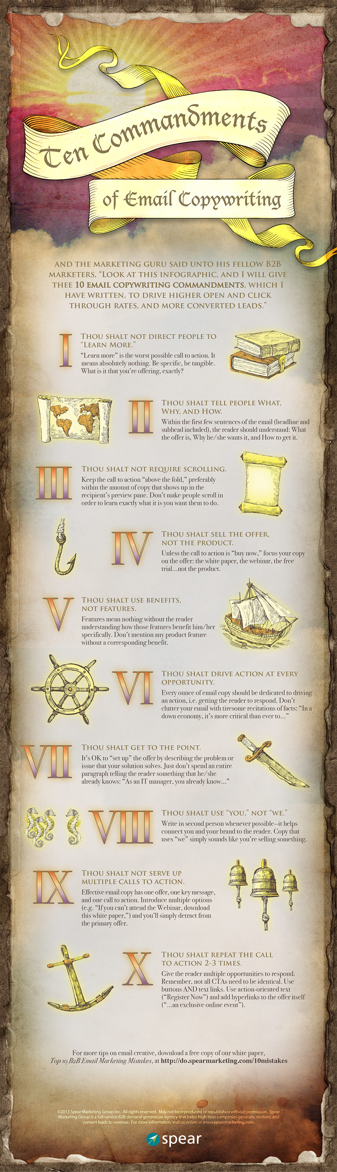 Infographic: Ten Commandments of Email Copywriting