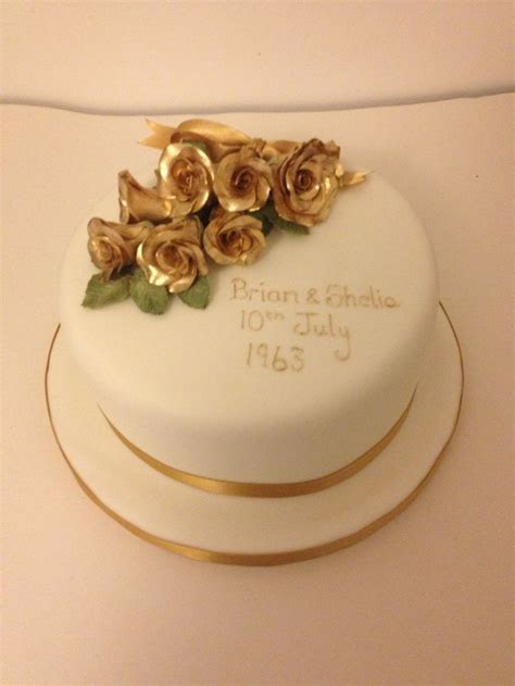 Golden wedding anniversary cake   Anniversary Cake Ideas