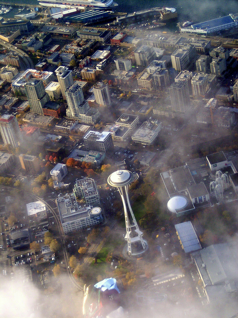 Geologychick's Photo of Seattle From the Plane