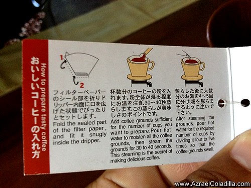 Coffee drip from Saizen
