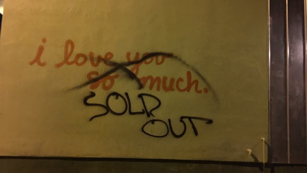 I Love You So Much Wall Vandalized Keye