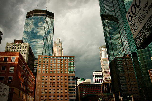 Storm coming into downtown