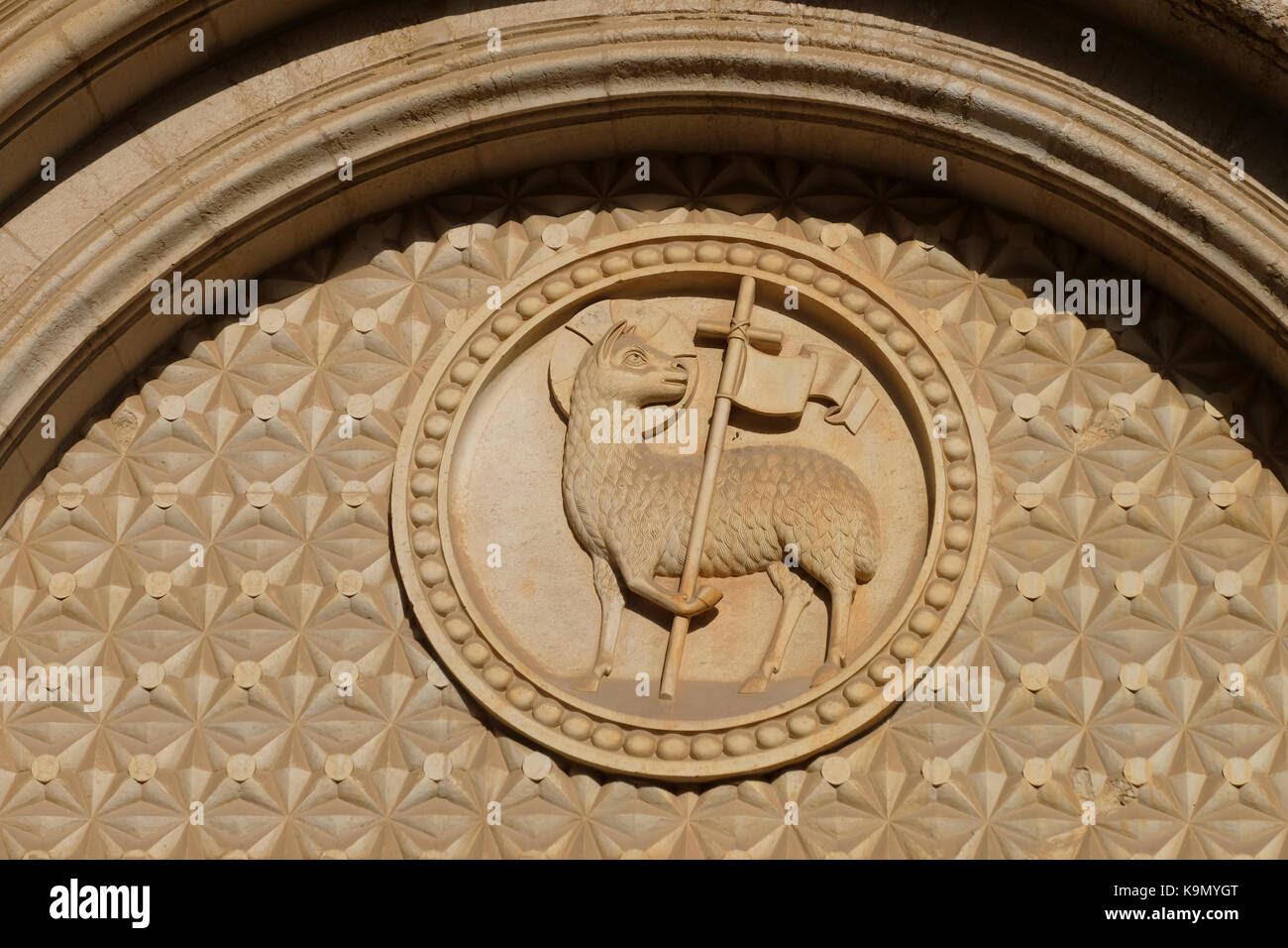 Agnus Dei The Christian Symbol Of The Lamb Of God Above The Main