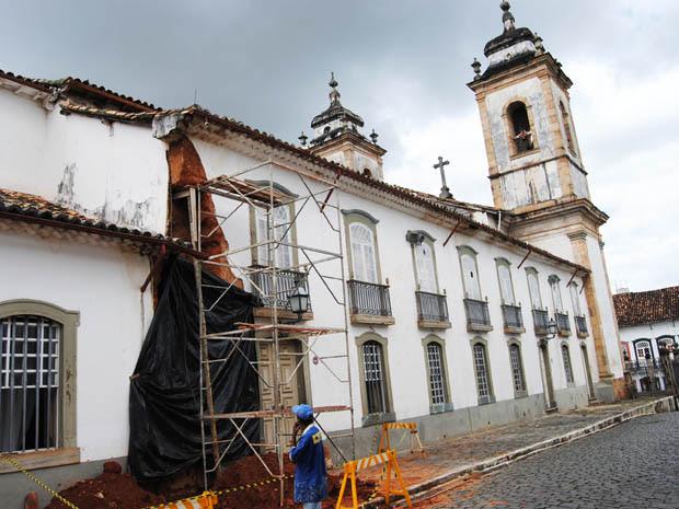 Lateral da Igreja do Pilar, em São João Del Rei (Foto: Luciano Oliveira/Divulgação Prefeitura de São João Del Rei)