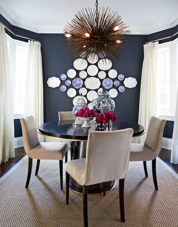 Navy Blue Dining Room - Eclectic - dining room - McGill Design Group