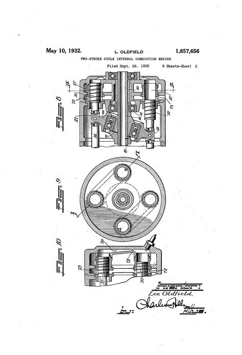 Patente US1857656 - Two stroke cycle internal combustion
