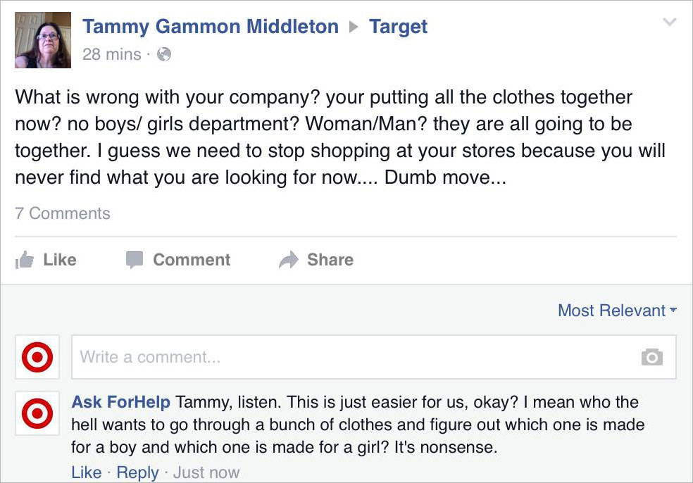 Man Poses As Target On Facebook Trolls Haters Of Its Gender Neutral