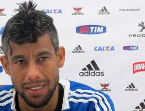 Leo Moura coletiva Flamengo (Foto: Richard Souza)