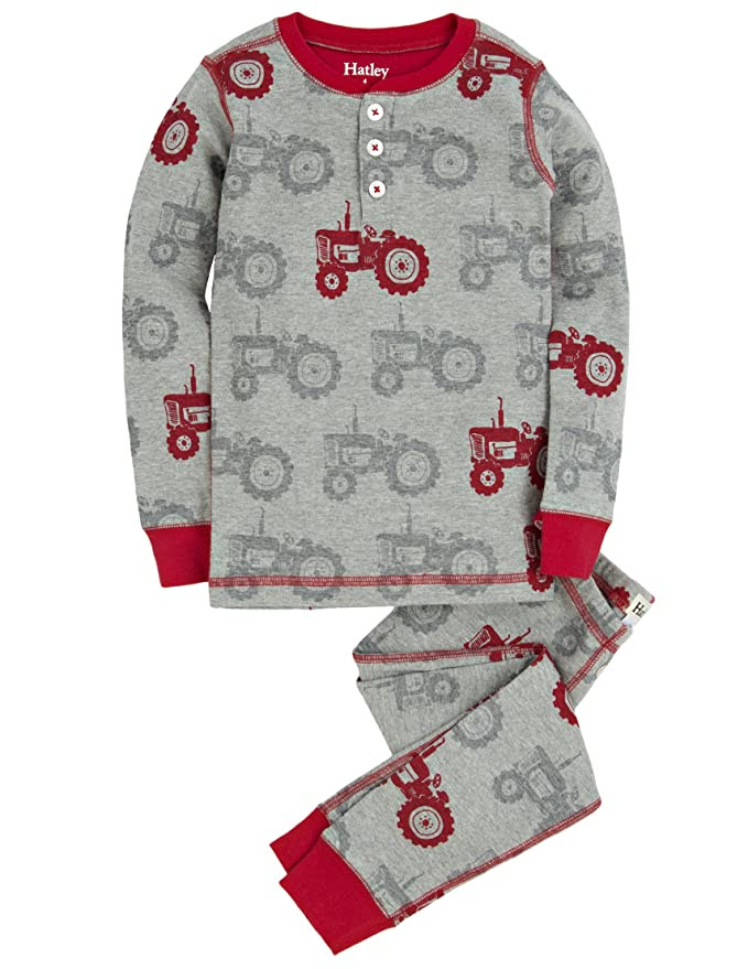 Amazon.com: Hatley Little Boys' Henley Pajama Set -Silhouette ...