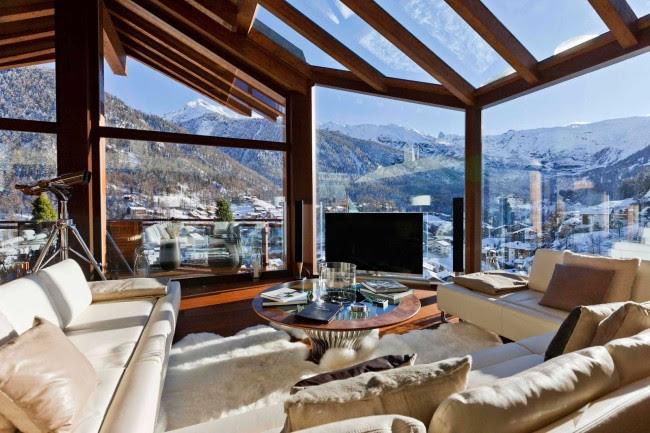 Swiss Chalet Livingroom [1600x1067]