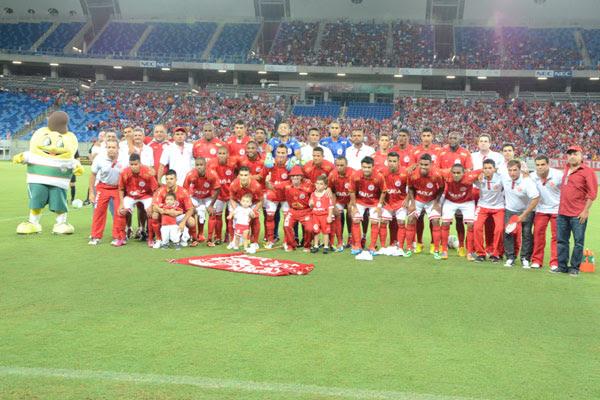 Equipe do América antes do início da partida