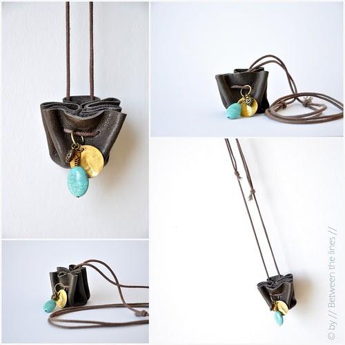 Mini drawstring purse