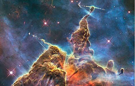 Imagen de la 'Montaña Mística', captada por el telescopio Hubble. |  NASA | ESA