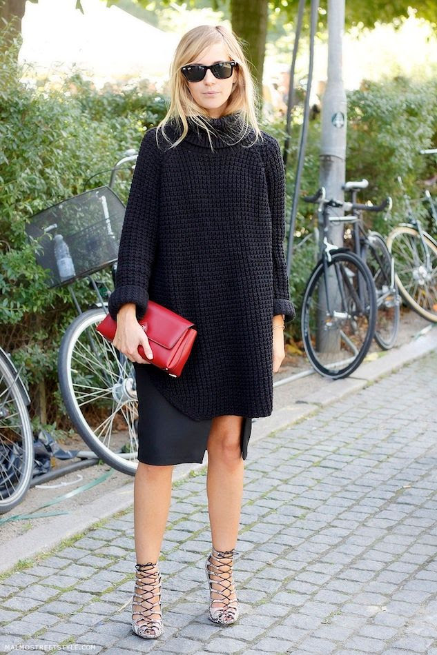 Le Fashion Blog -- Copenhagen Street Style: Emma Elwin Oversized Turtleneck Slit Skirt Lace Up Heels -- Via Malmo Street Style -- photo Le-Fashion-Blog-Copenhagen-Street-Style-Emma-Elwin-Oversized-Turtleneck-Slit-Skirt-Lace-Up-Heels-Via-Malmo-Street-Style.jpg
