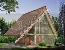 desain villa kayu