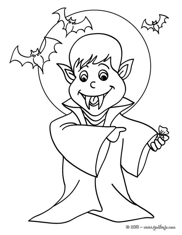 Dibujos Para Colorear Vampiro Halloween 16 Dibujos Para Colorear