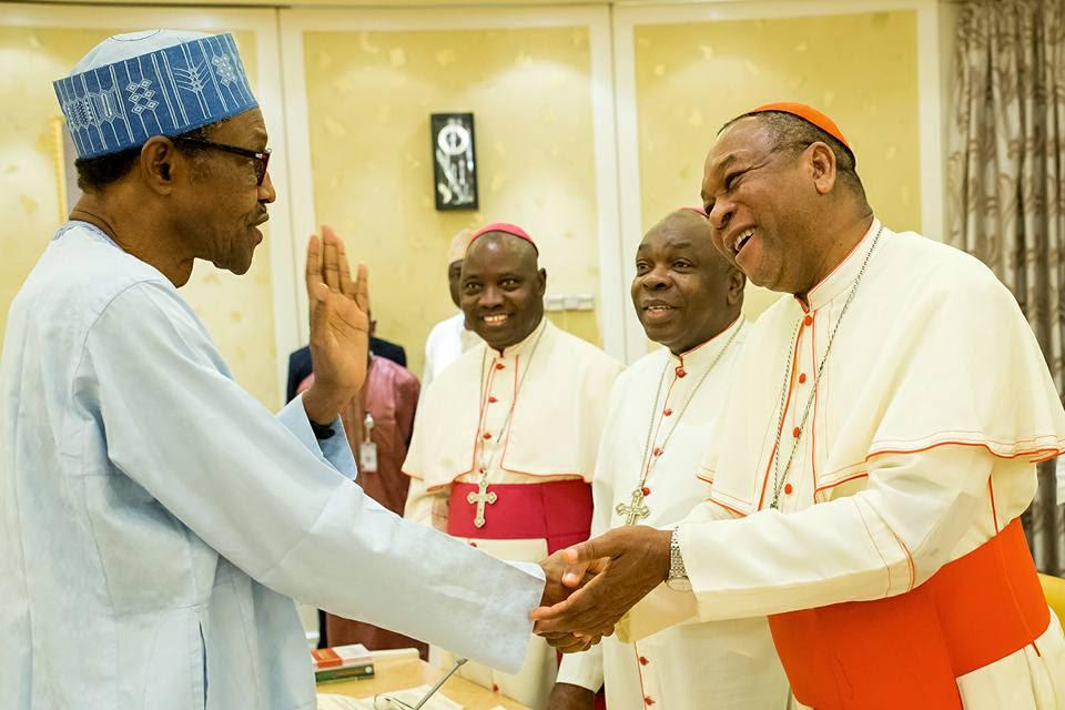 Image result for cardinal onaiyekan and buhari